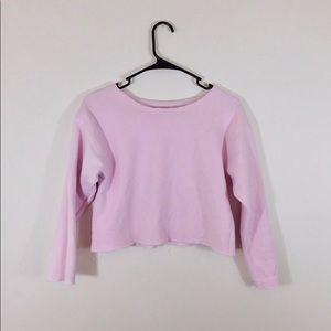 Tops - Pink crop sweatshirt